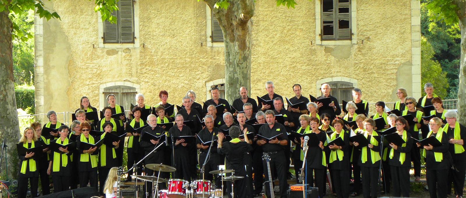 la chorale chantadour en concert