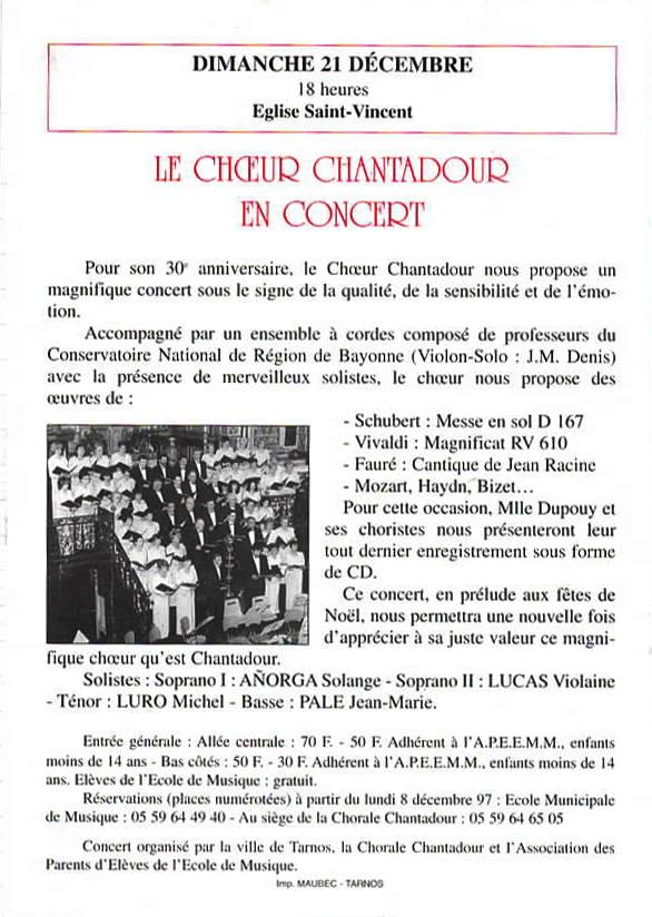 Les 30 ans de Chantadour